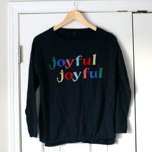Talbot's navy joyful sweater wool